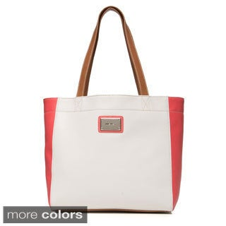 Nine West Flat Handle Two-tone Tote