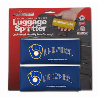 MLB NL Milwaukee Brewers Original Patented Luggage Spotter (Set of 2)