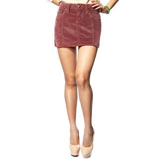 Stitch's Women's Purple Corduroy Mini Skirt