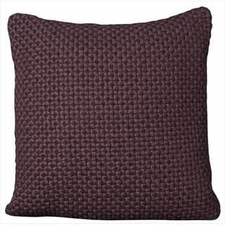 Mina Victory Felt Purple 20x20-inch Throw Pillow