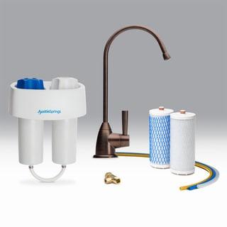 Austin Springs Undercounter Water Filter Bronze Premium Faucet