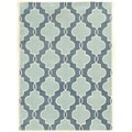 Trio Collection Moroccan Blue/ Ivory Area Rug (8' x 10')