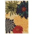 Trio Collection Dahlia Multicolored Area Rug (5' x 7')