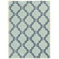 Trio Collection Moroccan Blue/ Ivory Area Rug (2' x 3')