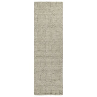 Handmade Trends Oatmeal Pop Wool Runner Rug (2'6 x 8')