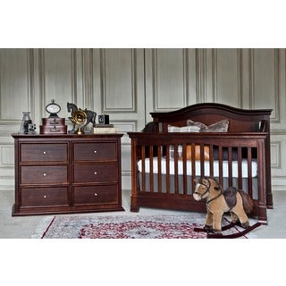 Million Dollar Baby Classic Louis 4-in-1 Convertible Crib in Espresso