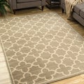 Casual Trellis Brown/ Tan Area Rug (7'10 x 10')