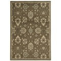 Casual Floral Brown/ Beige Area Rug (7'10 x 10')