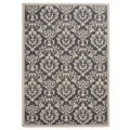 Traditional Floral Charcoal/ Ivory Area Rug (7'10 x 10')