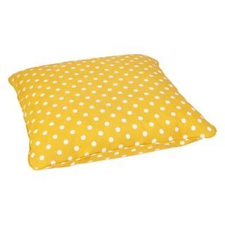 Yellow Dots Corded Outdoor/ Indoor Large 28-inch Floor Pillow