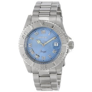 Invicta Women's 14361 'Angel' Blue Dial Quartz Stainless Steel Watch