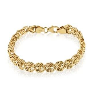 Gioelli 14k Gold Rosetta Bracelet