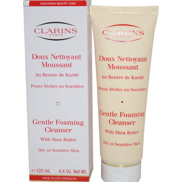 Clarins 4.4-ounce Gentle Foaming Cleanser with Shea Butter