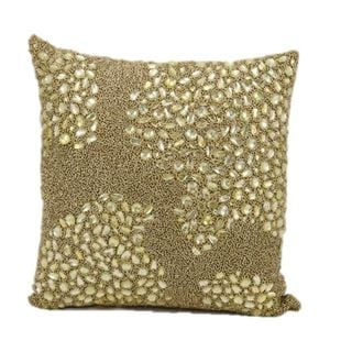 Mina Victory Luminescence Gold 16-inch Throw Pillow