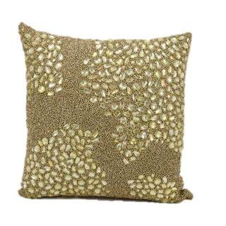 Mina Victory Luminescence Gold 16-inch Throw Pillow