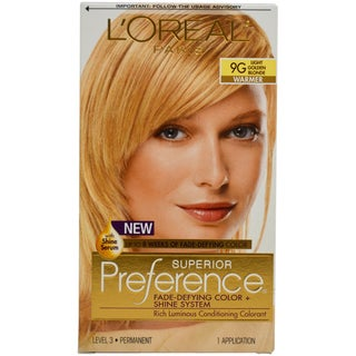 L'Oreal Paris Superior Preference 9G Light Golden Blonde Hair Color (1 Application)