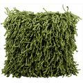 Mina Victory Shag Fugga Green Throw Pillow (20-inch x 20-inch) by Nourison