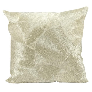 Mina Victory Silver 20-inch Throw Pillow