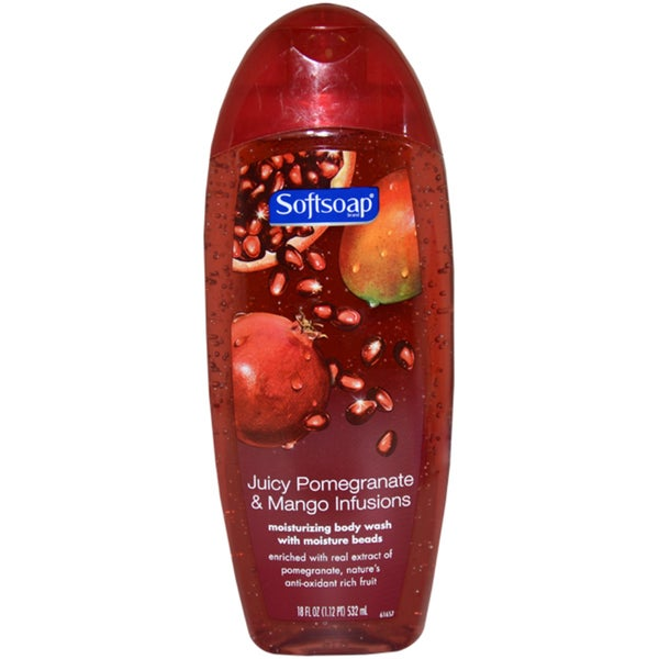 Softsoap Juicy Pomegranate & Mango Infusions 18-ounce Moisturizing Body Wash