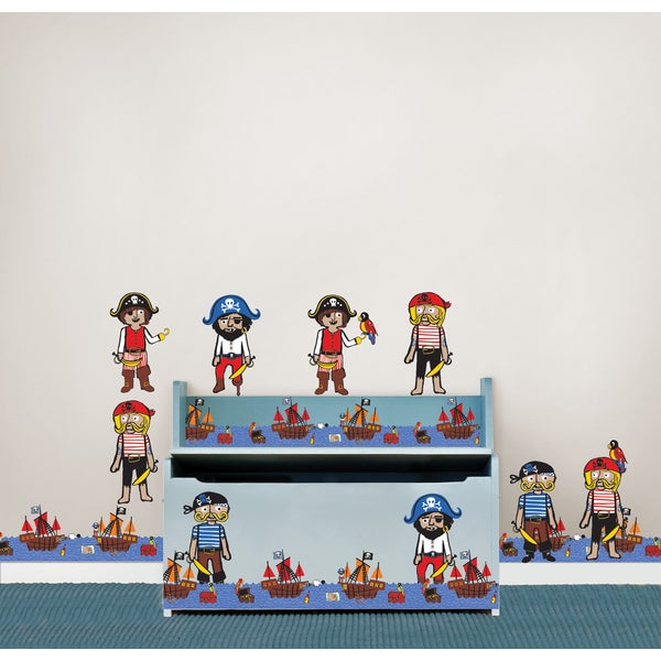 Wall Pops Argh Pirates Blox and Stripe Wall Decal Sticker Set