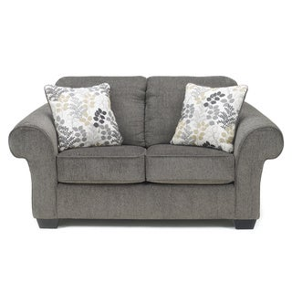 Signature Design by Ashley Makonnen Charcoal Fabric Loveseat