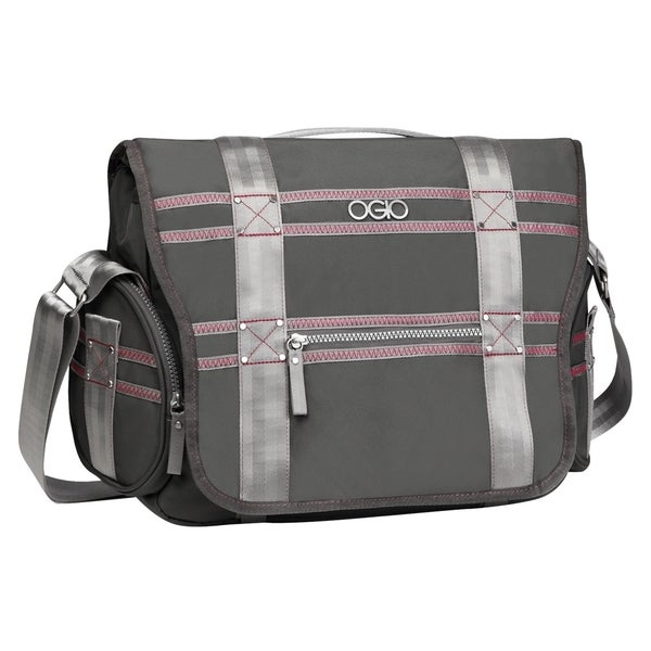 OGIO Grey / Pink Monaco 13-inch Laptop Messenger Bag