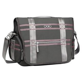 OGIO Grey / Pink Monaco 13-inch Laptop Messenger Bag