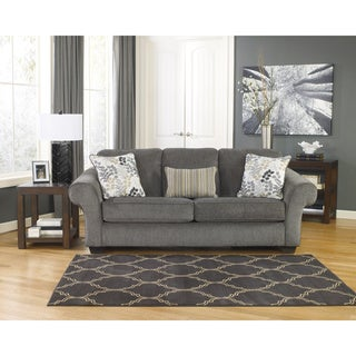 Signature Design by Ashley Makonnen Charcoal Fabric Sofa