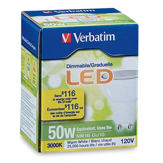Verbatim Contour Series MR16 (GU10) 3000K 500-lumens LED Lamp