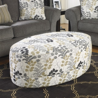 Signature Design by Ashley Makonnen Print Accent Ottoman