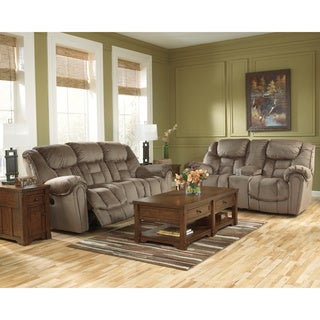 Signature Design by Ashley Brasher Mocha Contemporary Reclining Loveseat
