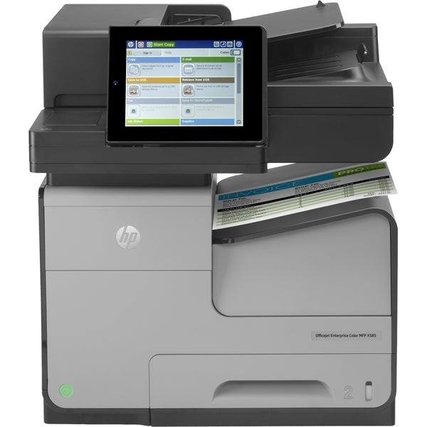 HP Officejet X585F Inkjet Multifunction Printer - Color - Plain Paper