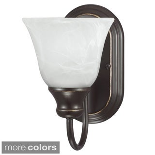 Sea Gull Lighting Windgate 1-light Wall/ Bath Sconce with White Alabaster Glass