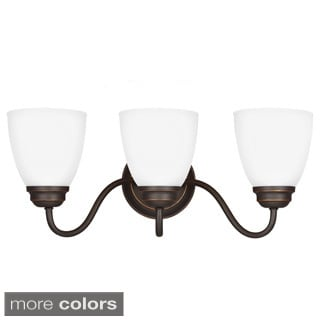 Sea Gull Lighting Northbrook 3-light Wall/ Bath Vanity with Satin Etched Glass