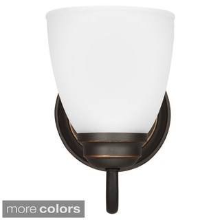 Sea Gull Lighting Northbrook 1-light Wall/ Bath Sconce with Satin Etched Glass