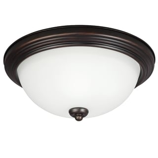 Sea Gull Lighting 2-light Burnt Sienna Ceiling Flush Mount