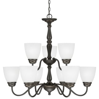 Sea Gull Lighting Northbrook 9-light Roman Bronze Chandelier