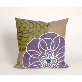 Modern Flower Indoor/Outdoor 20 inch Throw Pillow