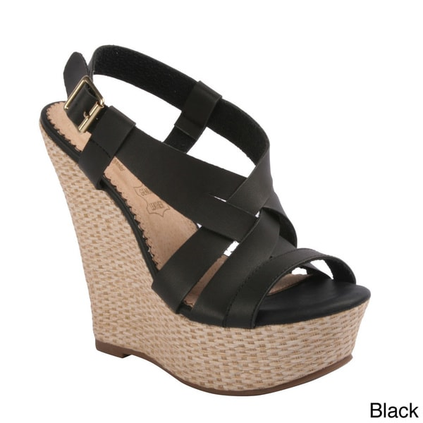 Kayleen Women's 'Husai-2' Strappy Espadrille Wedge Sandals