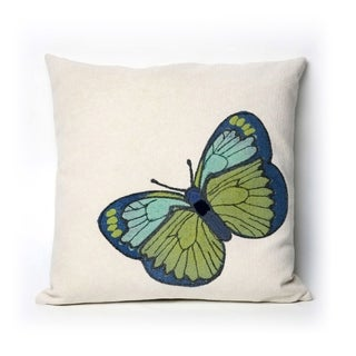 Butterfly 20-inch Square Indoor/ Outdoor Throw Pillow