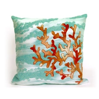 Tempest Coral Indoor/Outdoor 20 inch Throw Pillow