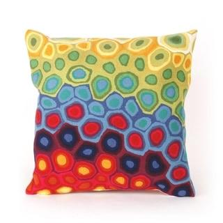 Wavey Circle Indoor/Outdoor 20 inch Throw Pillow