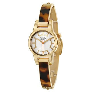 ESQ by Movado Women's 'Nova' Yellow Goldplated Stainless Steel Swiss Quartz Watch