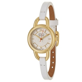 ESQ By Movado Women's 07101450 'Status' White Leather Watch