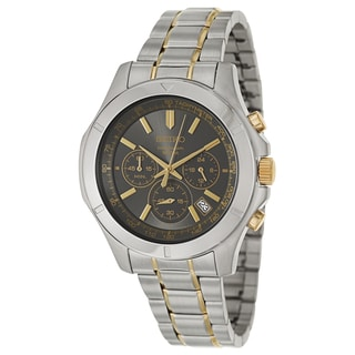 Seiko Men's 'Chronograph' Military Time Two-tone Tachymeter Watch