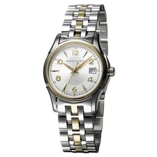 Hamilton Women's 'Jazzmaster' Yellow Goldtone Stainless Steel Swiss Quartz Watch