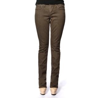 Stitch's Women's Slim Fit Brown Premium Denim Low-waist Jeans