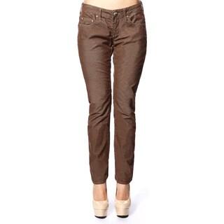 Stitch's Women's Brown Low-waist Jegging Skinny Jeans