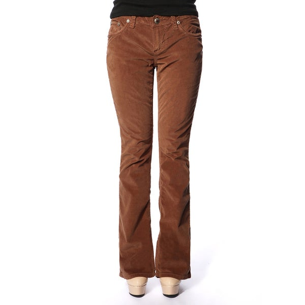 Stitch's Women's Brown Comfort Corduroy Boot Cut Jeans