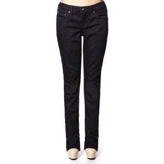 Stitch's Women's Dark Purple Wash Denim Straight Leg Jeans